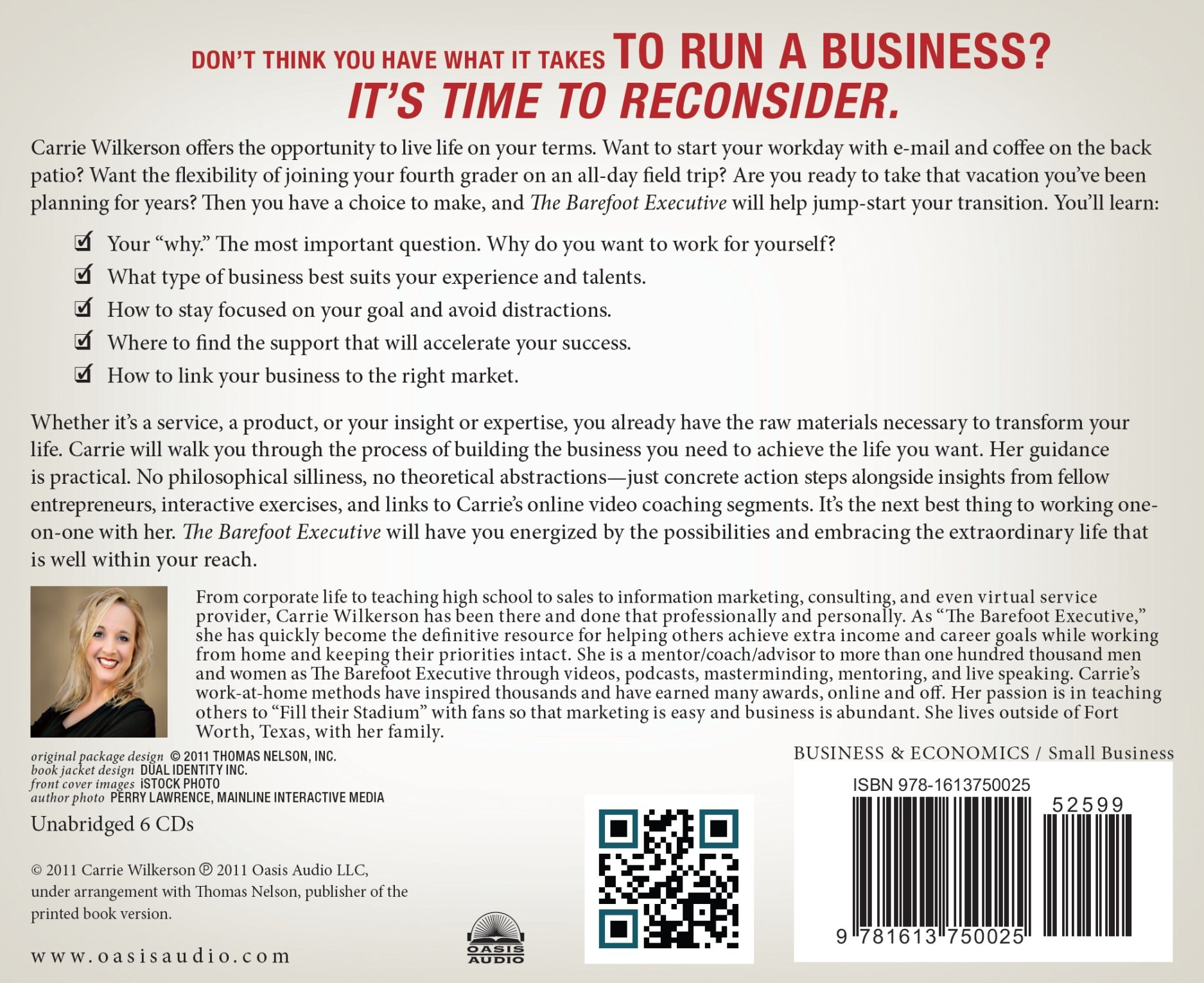 The barefoot executive the ultimate guide to being your own boss the barefoot executive the ultimate guide to being your own boss and achieving financial freedom carrie wilkerson 9781613750025 amazon books malvernweather Gallery