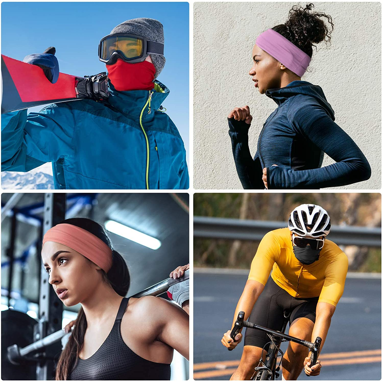 Corriendo LUNGEAR Pa/ñuelos Cabeza Multifunci/ón Pasamonta/ñas Termico de Secado R/ápido para Ciclismo Senderismo Aire Libre Deportes Polaina Cuello Bandana para Hombre o Mujer