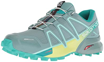 huge inventory d06d8 5b063 Salomon Womens Speedcross 4 CS W Trail Running Shoe TrellisSunny  LimeAtlantis 6