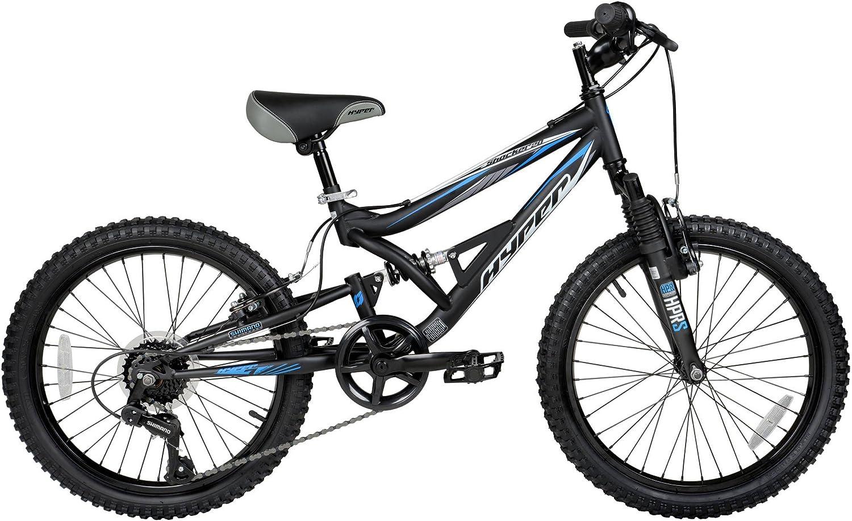 MTB Kids Hyper Shocker Mountain Bike Boys/' Riding Bicycle 7 Speed Xmas Gift 20/'/'