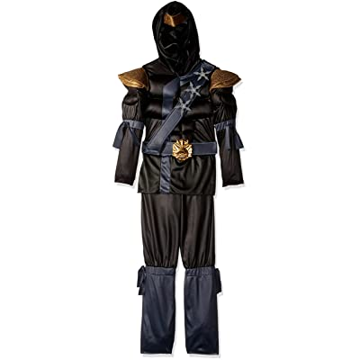 Disguise Kids Muscle Ninja Costume Black: Toys & Games