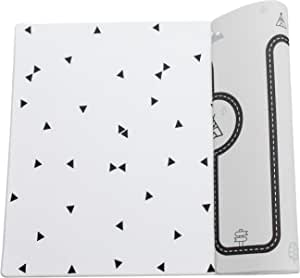 Ofie mat by Little Bot Baby, Soft Baby Play mat, Reversible and Non-Toxic Foam mat (Large, Country Road + Triangle)