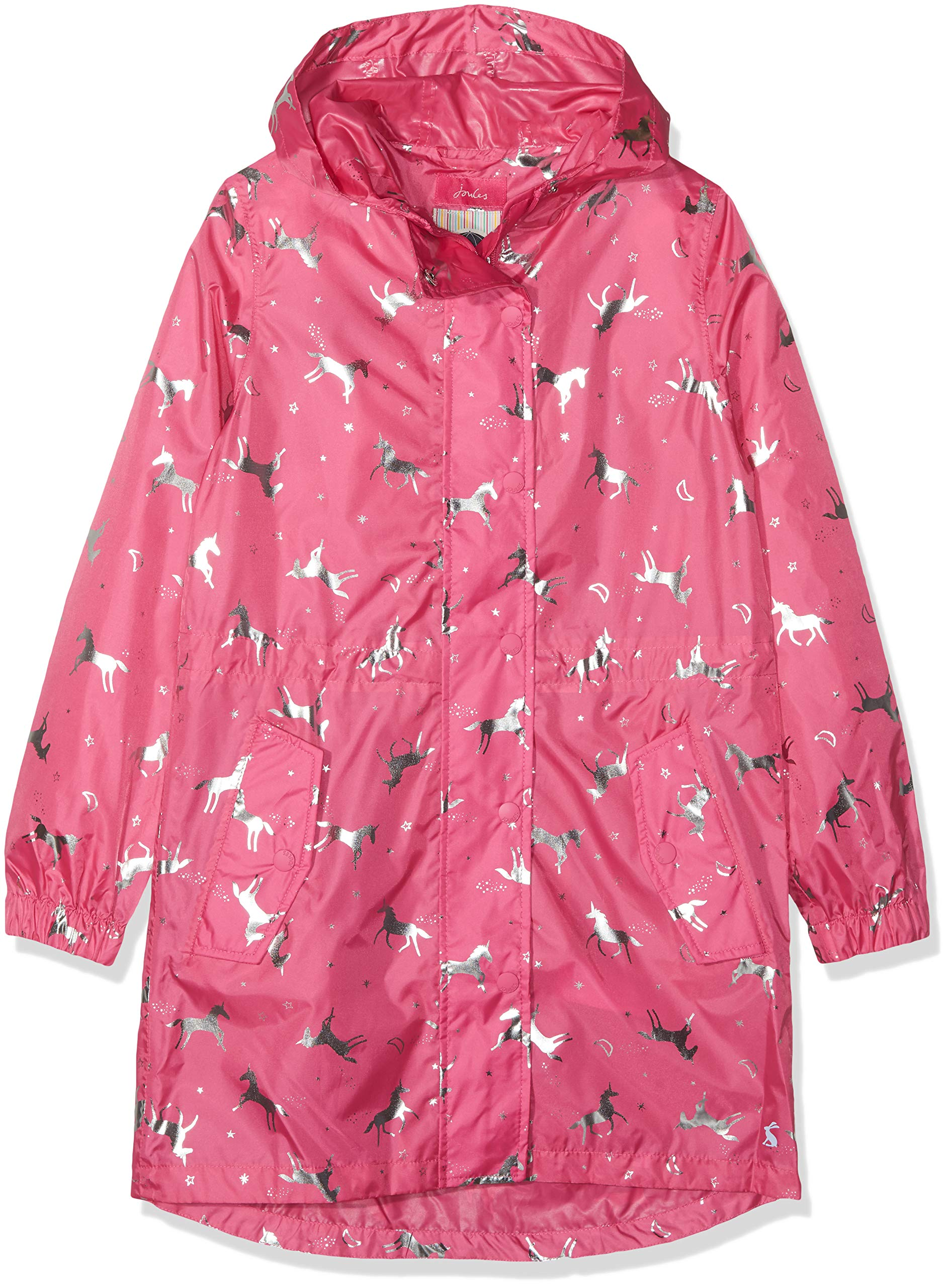 Joules Outerwear Girls' Big Golightly, Unicorn, 7-8 by Joules Outerwear
