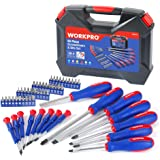 WORKPRO 56-Piece Screwdriver and Bits Set with Easy Organizing Case