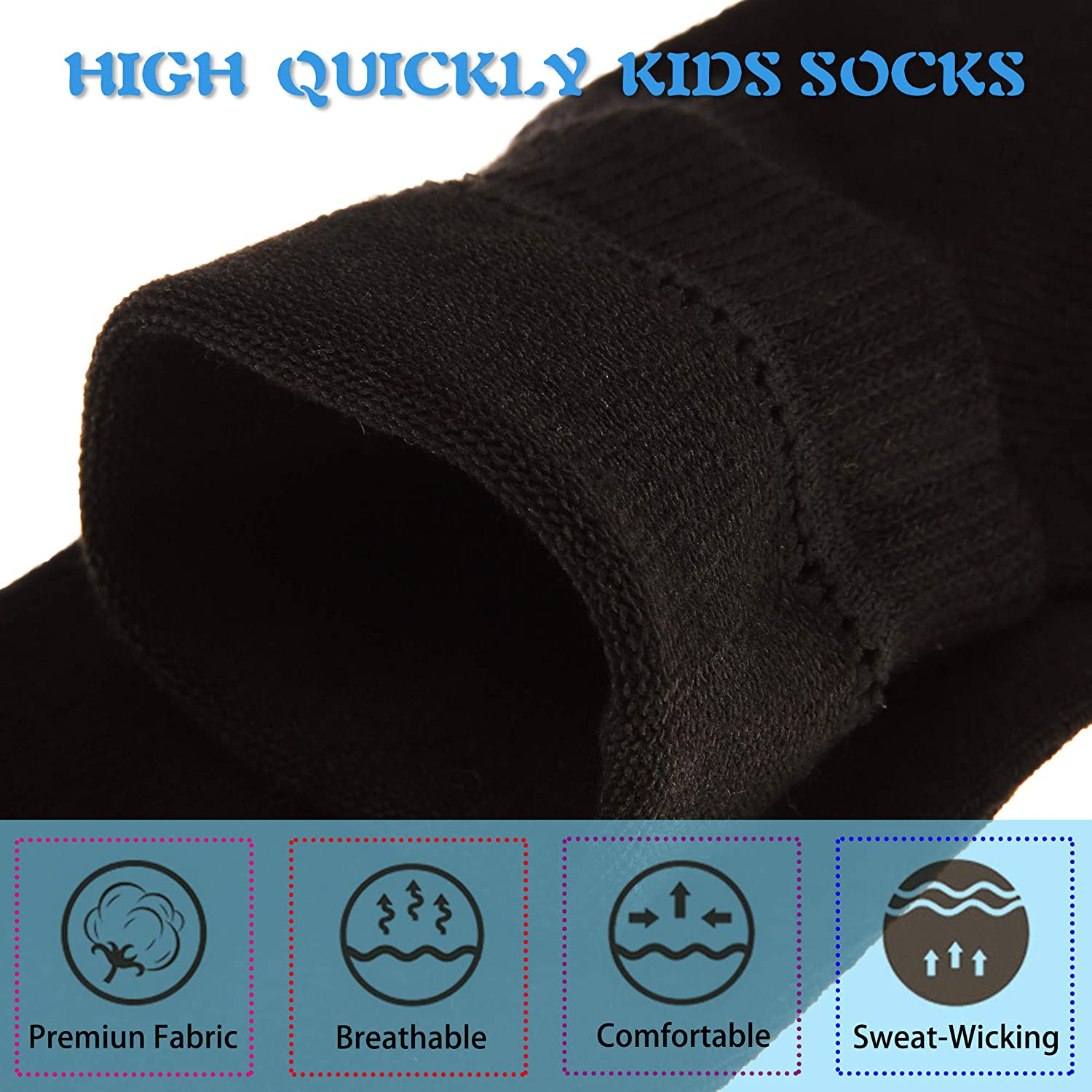 Baby Boys Girls Socks Little Kids Toddlers Casual School Sports Soft Breathable Cotton Crew Socks