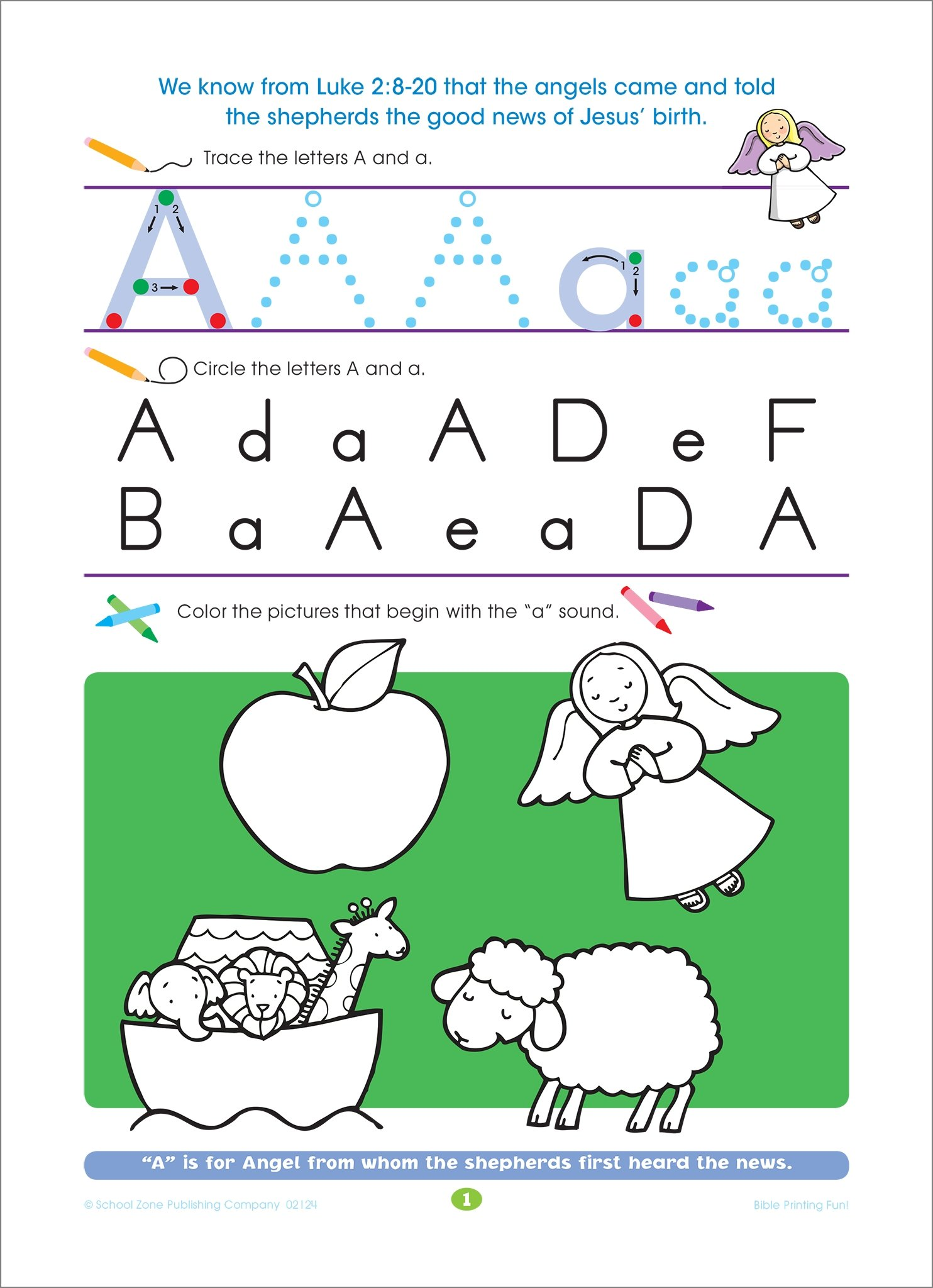 Bible Alphabet Fun! Workbook Ages 4-6 (Inspired Learning Workbook ...
