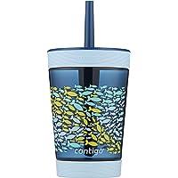 Contigo Spill-Proof Kids Tritan Straw Tumbler, 14 oz, Nautical Blue