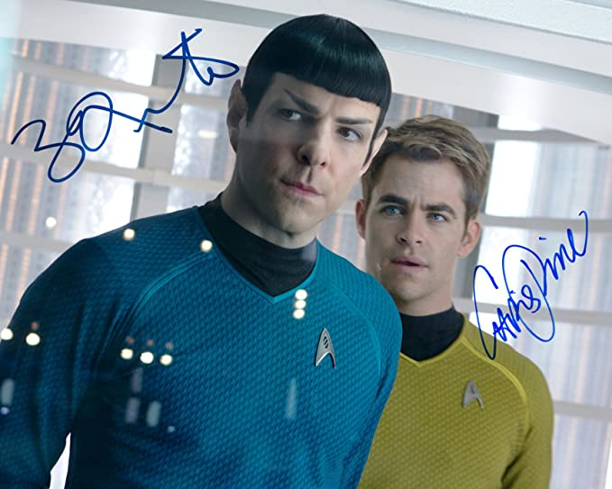4bcbe26bf Star Trek into Darkness SIGNED RP cast photo Chris Pine   Zachary ...