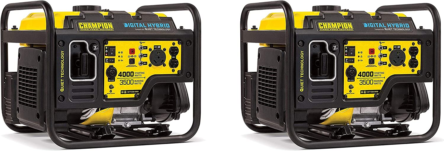 Champion 4000-Watt RV Ready DH Series Open Frame Inverter with Quiet Technology Pack of 2