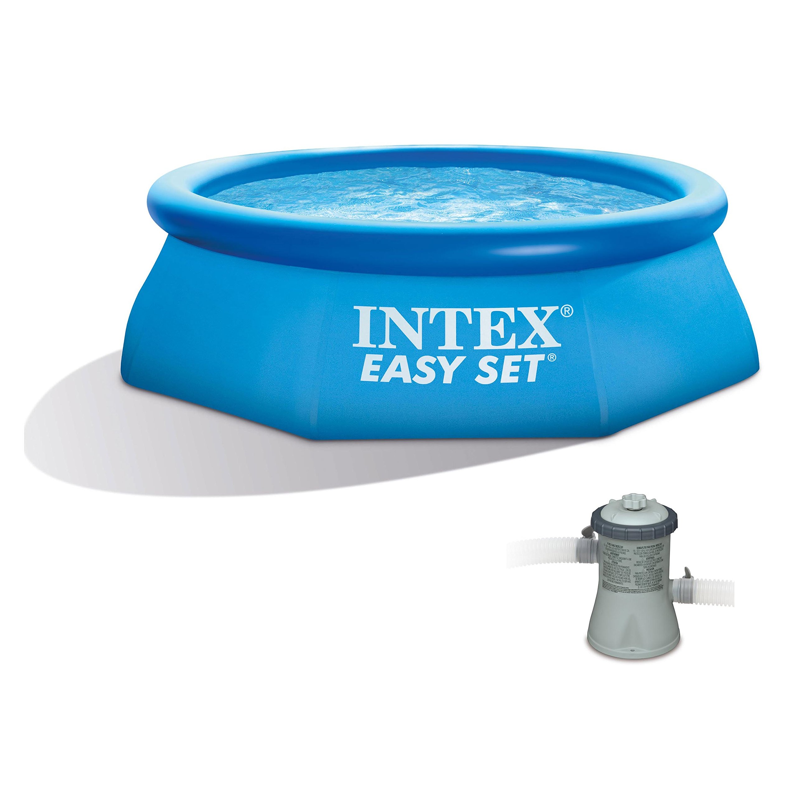 Intex 8' x 30'' Easy Set Inflatable Swimming Pool with 330 GPH Filter Pump