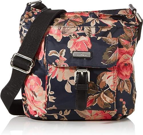 Tom Tailor Acc Damen Rina Rose Umhängetasche Blumen Schwarz M Schuhe Handtaschen