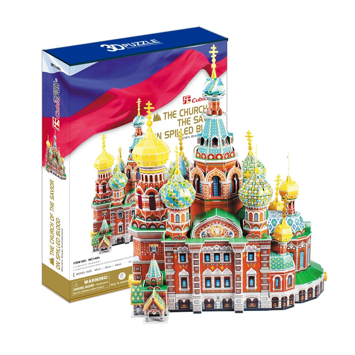 CubicFun 3D Puzzle 233 Pieces: The Church of the Savior on Spilled Blood Cubic Fun