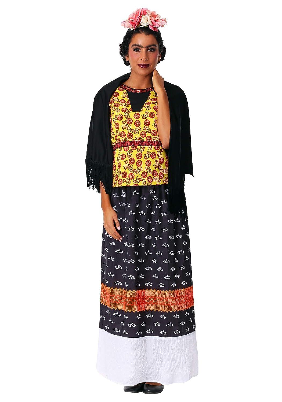 Damens's Plus Frida Kahlo Fancy Dress Costume 2X
