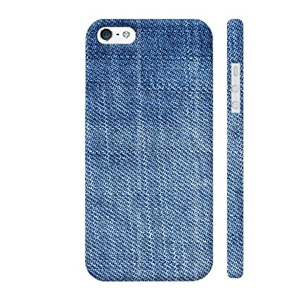256c11671 Colorpur iPhone 5   5s Cover - Blue Jeans Printed Back  Amazon.in   Electronics