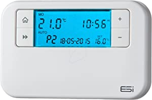 ESI - Energy Saving Innovation Controls ESRTP4 Wired programmable Room Thermostat, White