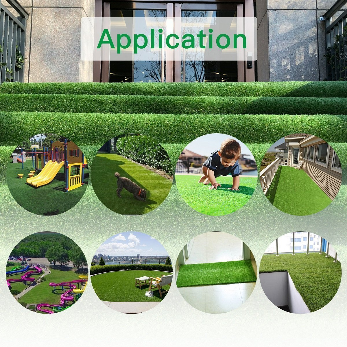 Pet Pad Artificial Grass Turf 5.5 FT x6.5 FT - Realistic Thick Synthetic Fake Grass Mat for Outdoor Garden Landscape Balcony Dog Grass Rug by PET GROW (Image #7)