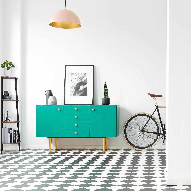 Escalera De pie Relaxdays Estanter/ía de Esquina 125x48x32 cm Vintage MDF Negro /& Marr/ón Mueble de almacenaje 1 Ud