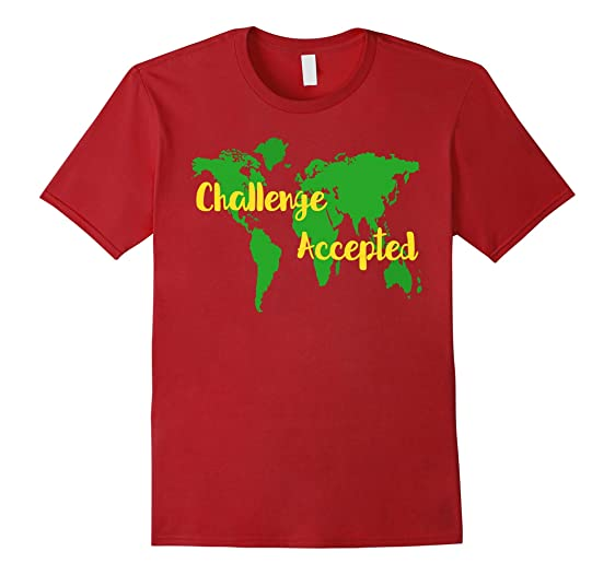 Amazon challenge accepted world map t shirt clothing mens challenge accepted world map t shirt 2xl cranberry gumiabroncs Gallery