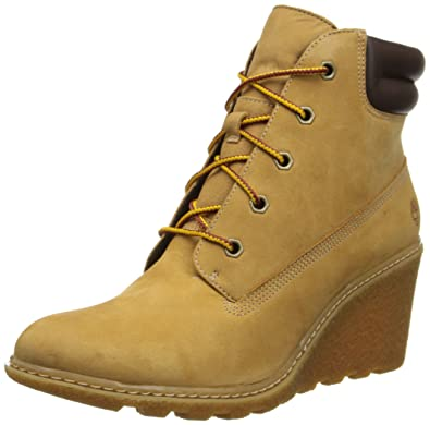 8dcc6cc11c1f57 Timberland Ek Amston 6In, Sneakers Hautes femme, Marron (Wheat), 37 EU