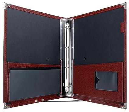 Classic Cantabile B16BK - Cartera de notas Deluxe, color marrón oscuro