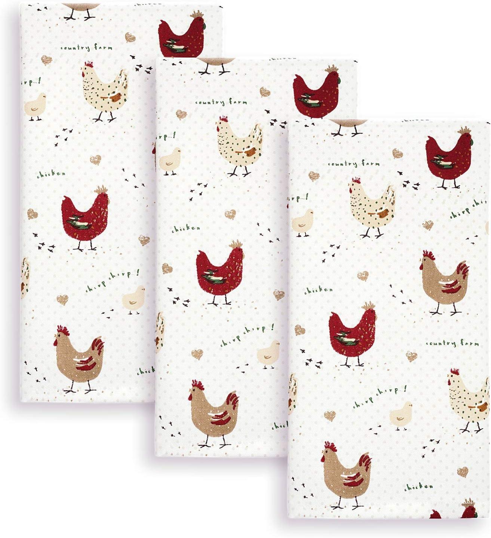 Crazy Chicken Lady Stars Tea Towel Dish Cloth Funny Animal Pet