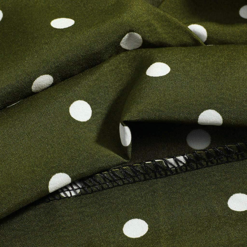 Women Summer Tanks,Fineser Womens V Neck Polka Dot Sleeveless Sling Camis Ladies Short Shirt Tank Crop Tops