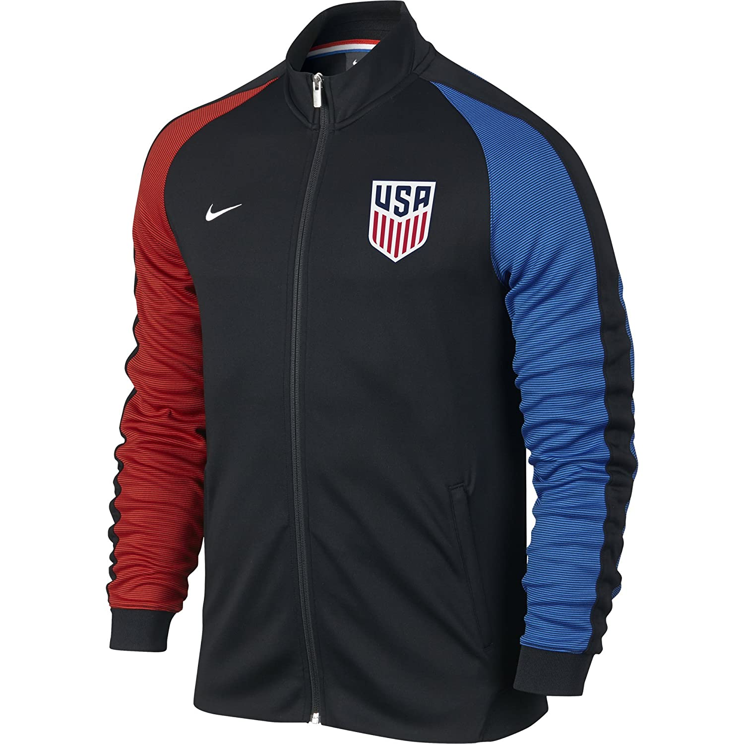 Top16  Nike U.S N98 Authentic Jacket Mens (Black) (XX-Large) 4036c3ee8