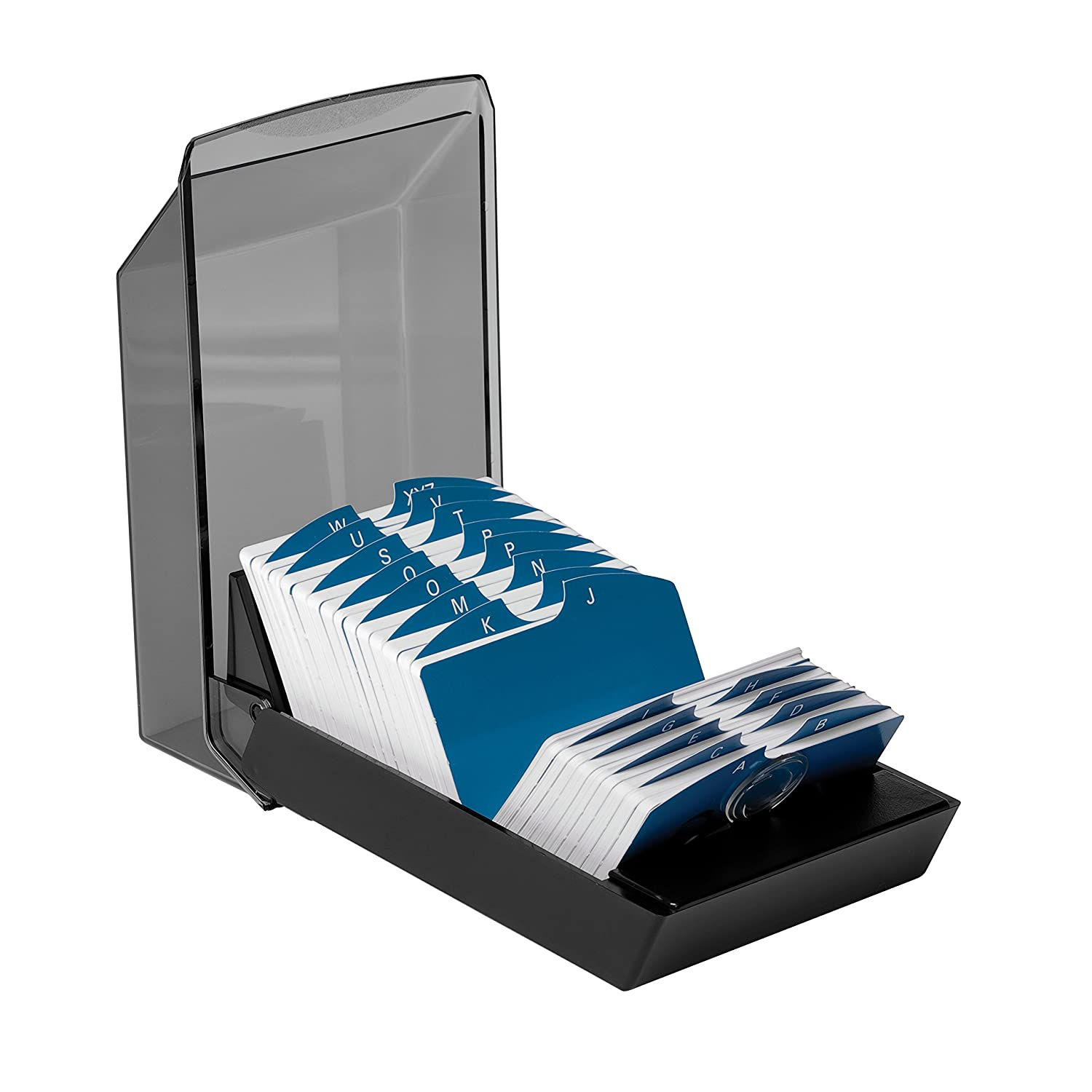 Amazon.com : Rolodex 67011 Rolodex Covered Business Card File, 500 ...