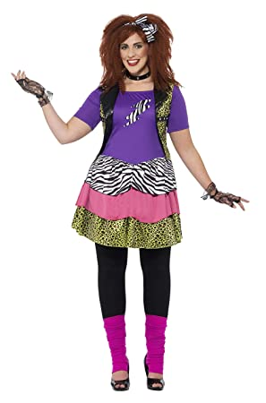 a22dc802b2369 Smiffys 44658L - Damen 80er Jahre Rock Chick Kostüm, Größe: 44-46 ...