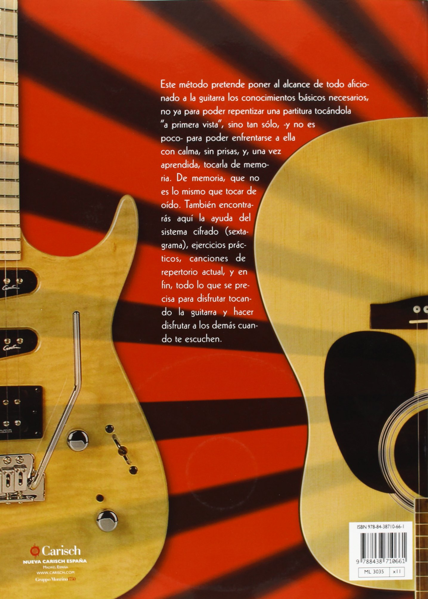 Amazon.com: ZAPATA - Metodo para Guitarra Acustica y Electrica (Inc.CD) (9788438710661): ZAPATA: Books