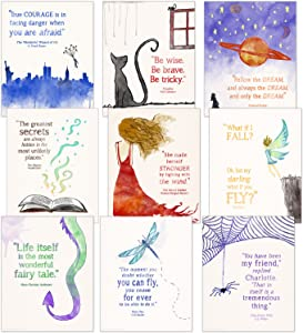 ECHO-LIT, LLC Children`s Literature Inspirational Quote Nine Poster Set for Home, Classroom or Library