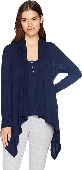 Splendid Women's Long Sleeve Cardigan Sweater Wrap Coverup Pajama Pj