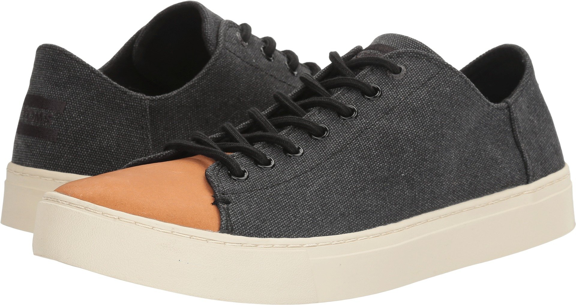 fa1ecc38ff8 Galleon - TOMS Men s Lenox Sneaker Black Washed Canvas Leather 10 D US D (M)