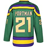 MOLPE Ducks Jersey, 96 Conway Jersey, 66 Bombay 33 Goldberg 99 Banks Jersey, Hockey Jerseys