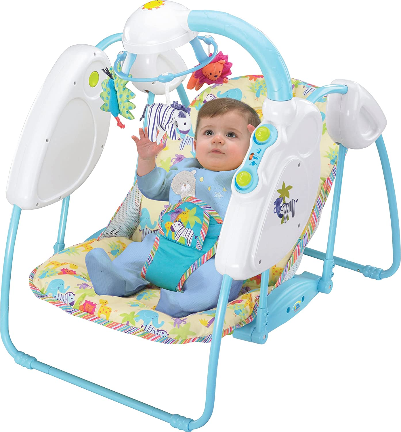 amazoncom the first years gentle glide portable glider by stationary baby swings baby