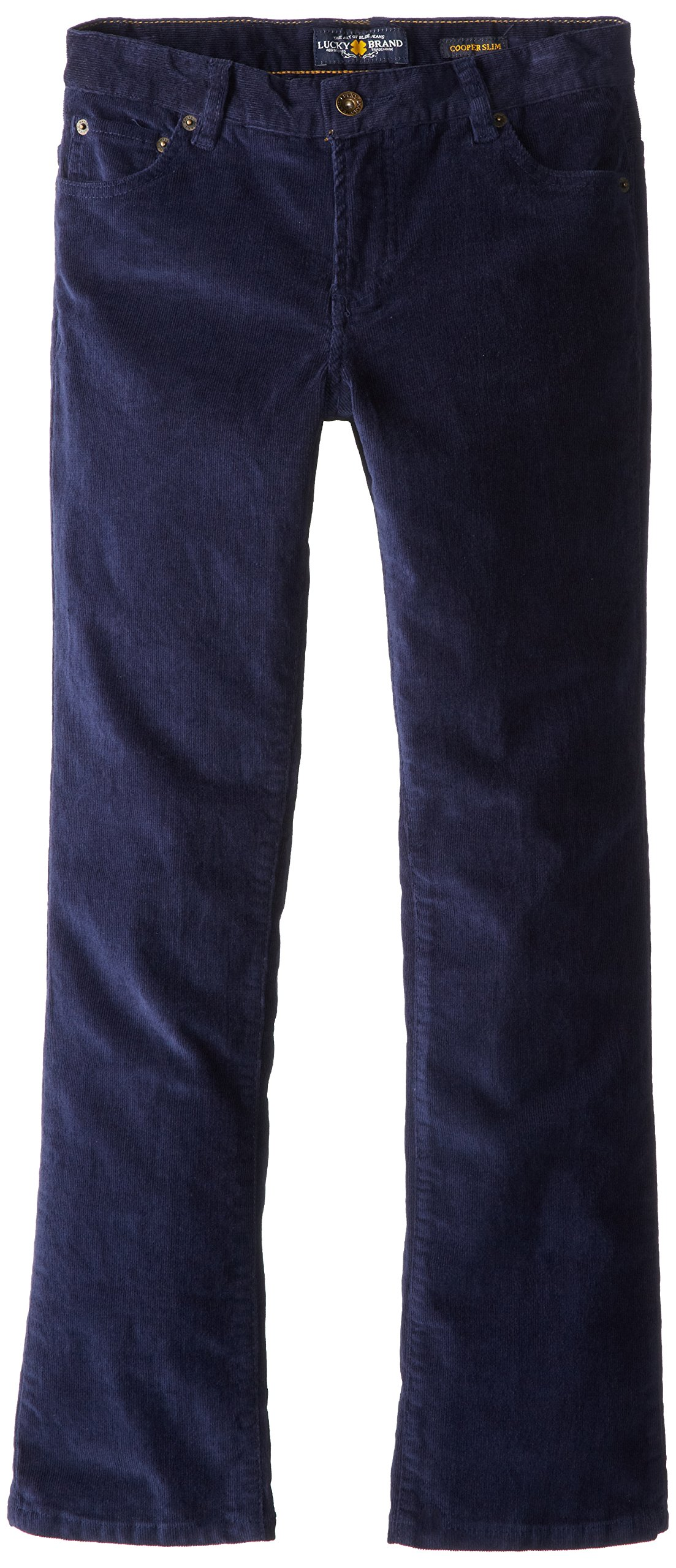 Lucky Brand Big Boys' Studebaker Billy Fit Cord Pant, Peacoat, 14