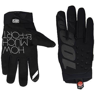 100% 2020 Brisker Colder Weather Gloves (Large) (Black/Grey): Automotive [5Bkhe1509509]