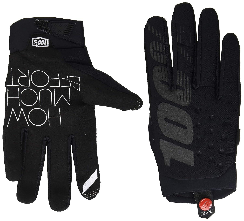 100/% Brisker Mens Off-Road Motorcycle Gloves Black//Grey//X-Large