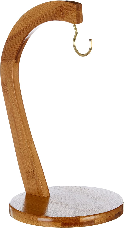 Relaxdays Porte-banane SHELDON pr/ésentoir Arbre bois de bambou grappe de raisin tomates fruits l/égumes HxlxP 28,5 x 16 x 16 cm naturel