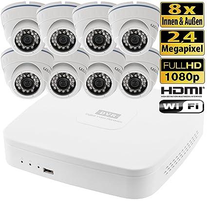 HDCVI circuito cerrado de televisión 8 canal DVR 8 cámaras de vigilancia al aire libre 2.4
