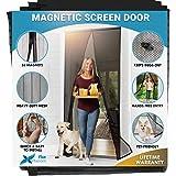 Flux Phenom Reinforced Magnetic Screen Door, Fits Doors up to 38 x 82-Inch, Black