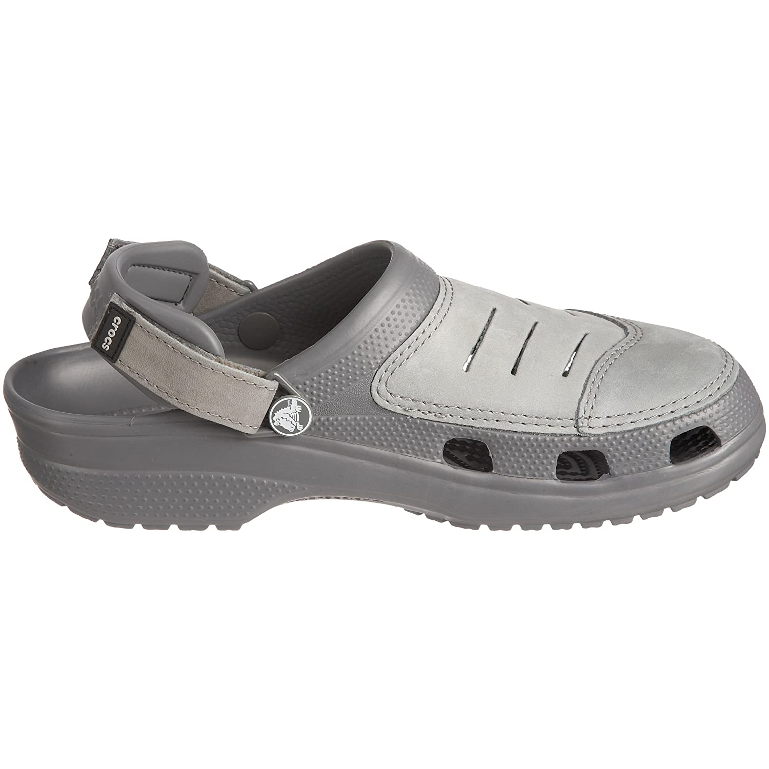 1de19b158c16 crocs Men s Yukon Charcoal and Med Grey Leather Clogs and Mules - M13  Buy  Online at Low Prices in India - Amazon.in