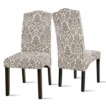 fabric dining chairs flower patterned accent chair solid wood legs set cheapest room cheap