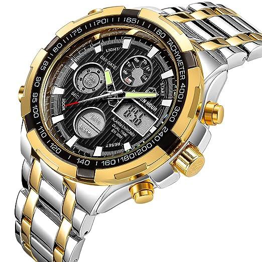 f4e767f5ee35 Reloj de pulsera analógico digital para hombre