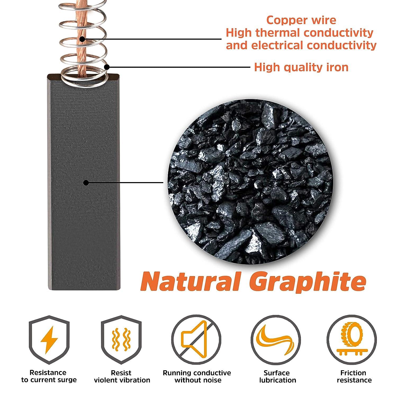 JamBer - 2 escobillas de carbón para lavadora Bosch Siemens 154740