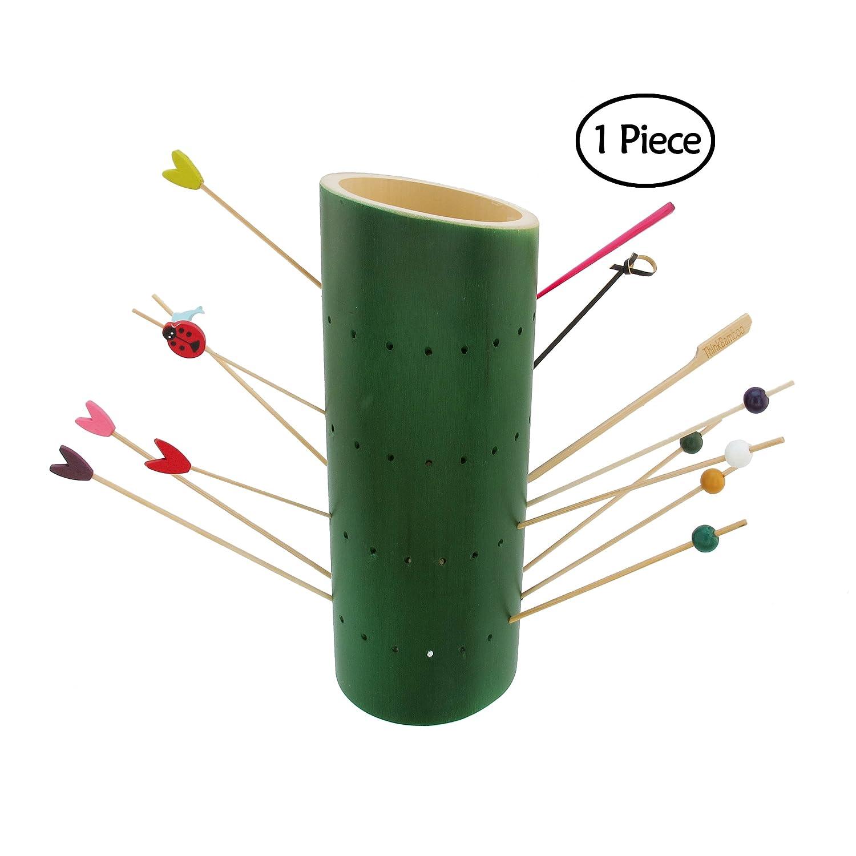 BambooMN竹串食品表示ホルダースタンド角度カットチューブSkewersスタンド – Variesオプション 9.84
