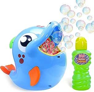 Kidzlane Bubble Machine – Bubble Blower Makes Big Bubbles 500-1000 Bubbles Per Minute - Automatic Bubble Machine for Kids and Toddlers Outdoor Age 3+