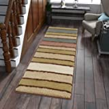 "Lifewit 23""x70"" (2x6 feet) Hallway Area Carpet Runner Rug with Anti Slip Rubber Back Color Stripe"