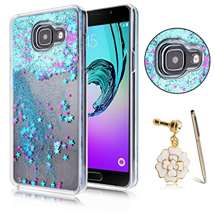 Funda Samsung A5 2016, CaseLover 3D Bling Bling Líquido Dinámico Arena Movediza Dura Carcasa Para Samsung Galaxy A5 2016 A510 (5.2 pulgadas) Glitter ...
