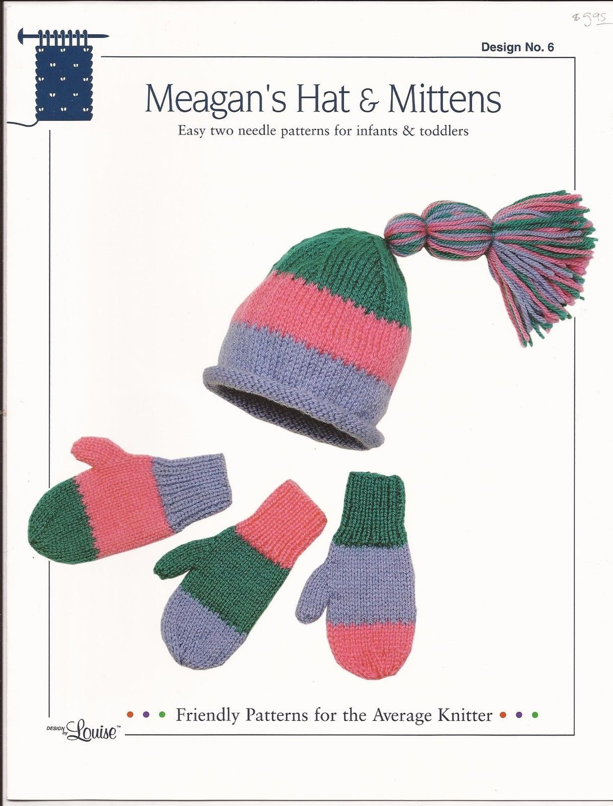 Amazon.com: Easy Knit Design by Louise Knitting Pattern #6 Meagan\'s ...